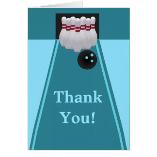 Bowling Birthday Thank You Card
