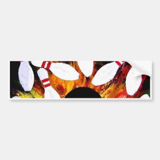 BOWLING BOWL STRIKE BUMPER STICKER by Teo Alfonso