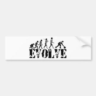 Bowling Bowler Sport Evolution Art Bumper Stickers