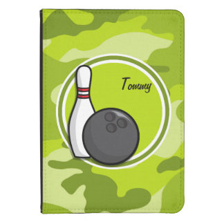 Bowling bright green camo camouflage kindle touch cover