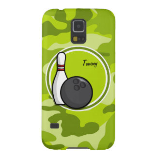 Bowling bright green camo camouflage galaxy s5 case