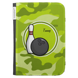 Bowling bright green camo camouflage cases for kindle