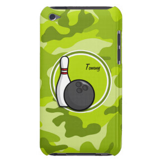Bowling bright green camo camouflage Case-Mate iPod touch case