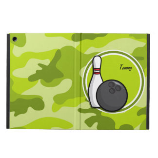 Bowling bright green camo camouflage iPad air case