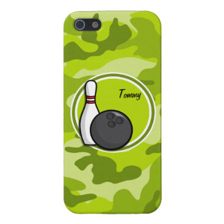 Bowling bright green camo camouflage cover for iPhone 5