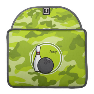 Bowling bright green camo camouflage MacBook pro sleeves