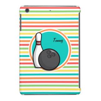 Bowling Bright Rainbow Stripes iPad Mini Retina Case