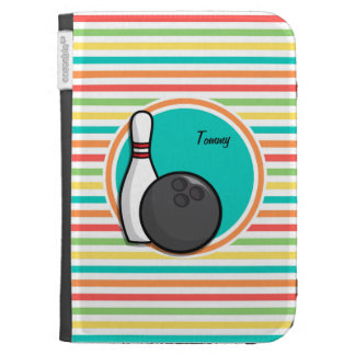 Bowling Bright Rainbow Stripes Kindle 3G Cases