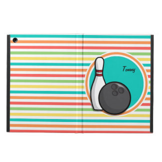 Bowling Bright Rainbow Stripes iPad Air Cases