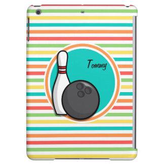 Bowling Bright Rainbow Stripes Case For iPad Air