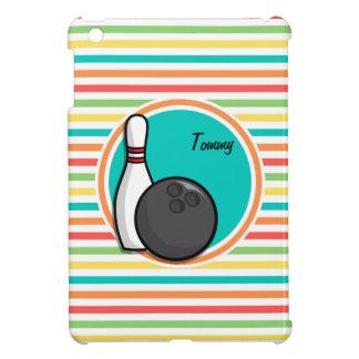 Bowling Bright Rainbow Stripes Case For The iPad Mini