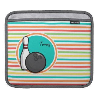 Bowling Bright Rainbow Stripes iPad Sleeve