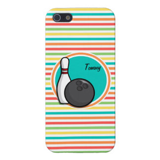 Bowling Bright Rainbow Stripes iPhone 5/5S Cases