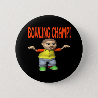 Bowling Champ 6 Cm Round Badge