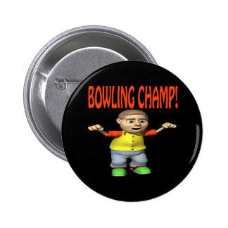 Bowling Champ 6 Cm Round Badge