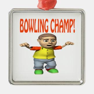 Bowling Champ Christmas Tree Ornament