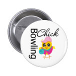 Bowling Chick 6 Cm Round Badge
