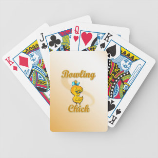 Bowling Chick Bicycle Playing Cards