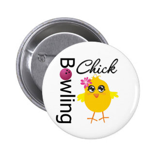 Bowling Chick Buttons