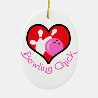 BOWLING CHICK ORNAMENT