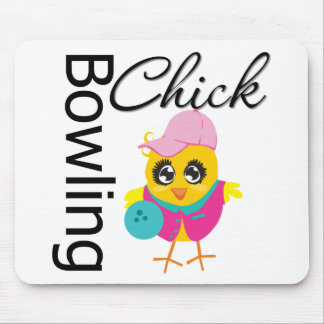 Bowling Chick Mousepads
