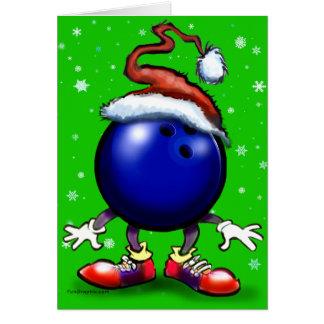 Bowling Christmas Greeting Card