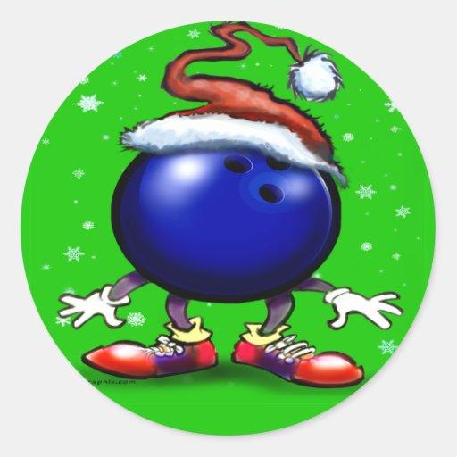Bowling Christmas Sticker