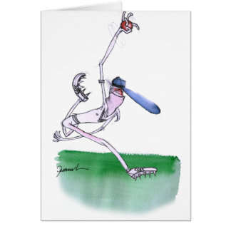 BOWLING - cricket, tony fernandes Greeting Card