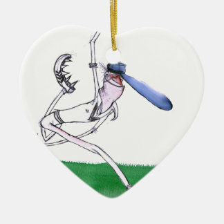 BOWLING - cricket, tony fernandes Christmas Ornament