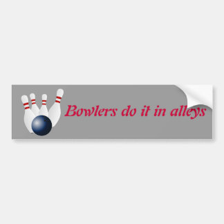 Bowling custom bumper sticker