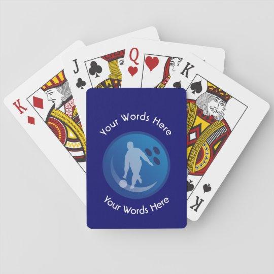 Bowling Custom Shield Poker Deck