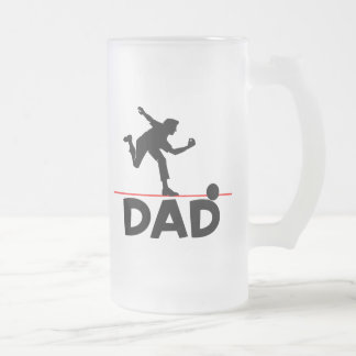 Bowling Dad Frosted Glass Beer Mug