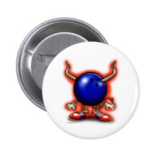 Bowling Demon 6 Cm Round Badge