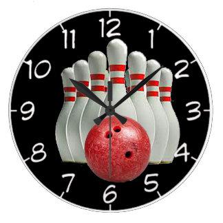 """Bowling"" design wall clocks"