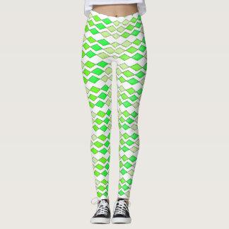 Bowling Diamonds - green hues Leggings