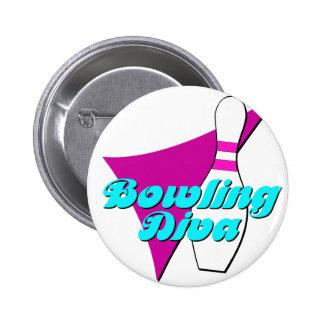 Bowling Diva 6 Cm Round Badge