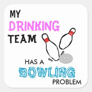 Bowling Drinking Team sticker