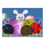 """Bowling Easter Party Invitations 5"""" X 7"""" Invitation Card"""