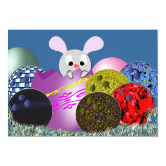Bowling Easter Party Invitations