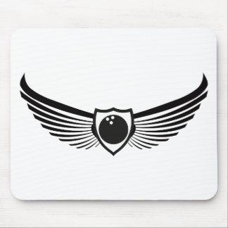 Bowling Emblem Badge Logo Mousepad