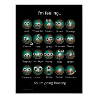 Bowling Emotions Poster