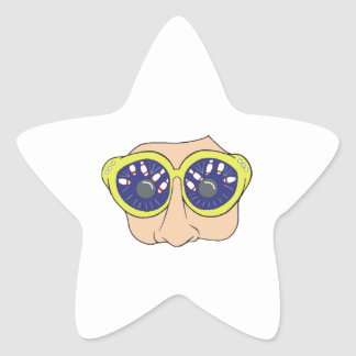 bowling eyes star stickers