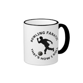 Bowling Fanatic  That's How I Roll Ringer Mug