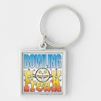 Bowling Freaky Freak Silver-Colored Square Key Ring