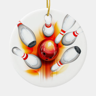 Bowling game (top view) christmas ornament