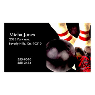 Bowling Gear Grunge Style Business Card Templates