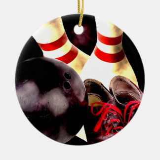 Bowling Gear Grunge Style Christmas Ornament