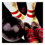 Bowling Gear Grunge Style Print