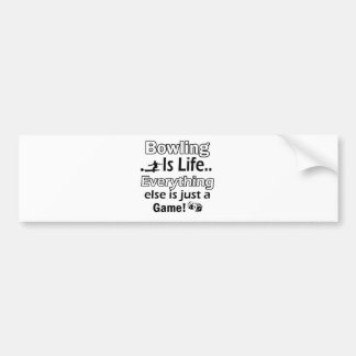 Bowling gift items bumper stickers