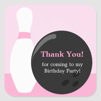 Bowling Girl Birthday Party  Sticker